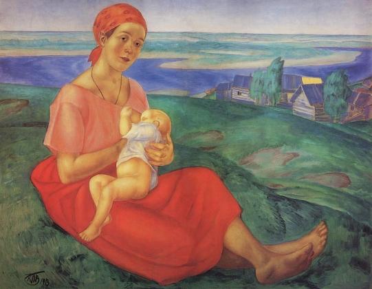 Кузьма Петров-Водкин. Мать. 1913
