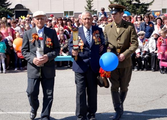 Ветераны Великой Отечественной войны в Тальменке на торжественном мероприятии