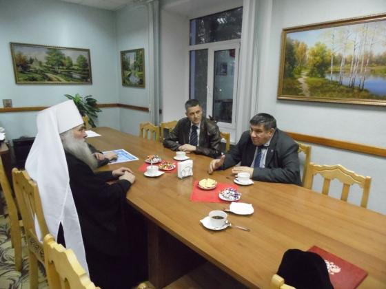 Представители духовенства на встрече с администрацией Тальменского района