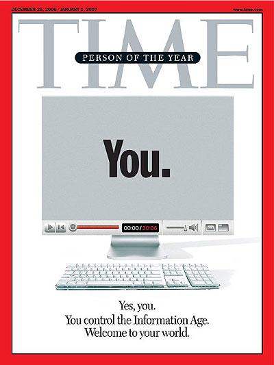 Человек года. Обложка журнала Time за 25 декабря 2006 года