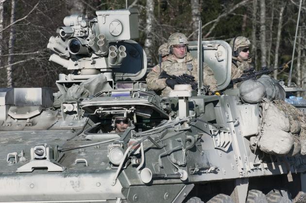 «Операция «Атлантическая решимость» («Operation Atlantic Resolve») на полигоне вблизи города Тапа, Эстония. 30 октября 2014 года
