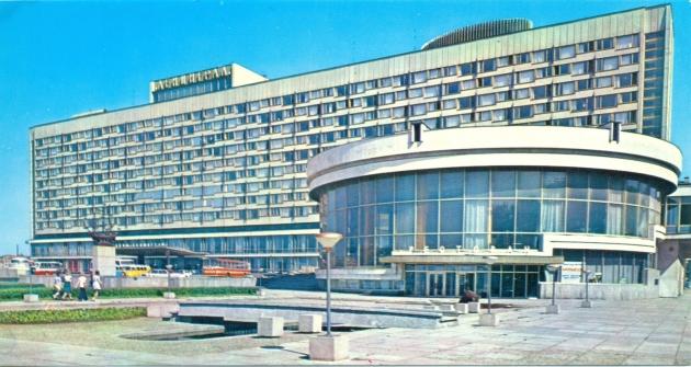 Гостиница «Ленинград» на открытке 1979 год