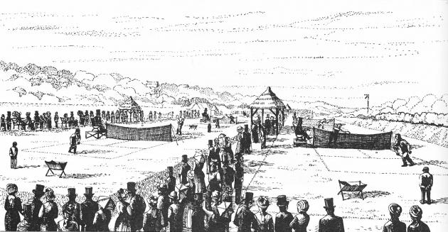 Первый Уимблдонский турнир на Уорпл-роуд в Лондоне. 1877