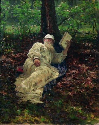 И. Репин. Лев Николаевич Толстой на отдыхе в лесу. 1891