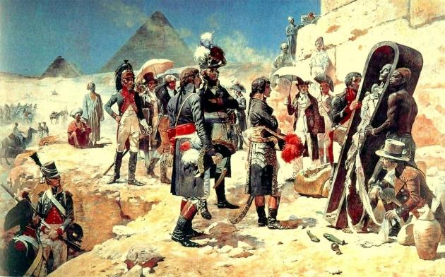 Наполеон Бонапарт в Египте. Иллюстрация из книги «История народов Хатчинсона», 1915 год