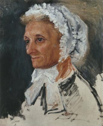 Пьер Огюст Ренуар. Портрет мадам Ренуар. 1860