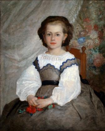 Пьер Огюст Ренуар. Портрет Ромейн Лако. 1864