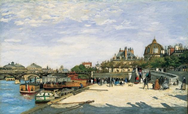Пьер Огюст Ренуар. Мост Искусств в Париже. 1867