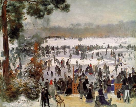 Пьер Огюст Ренуар. Катание на коньках в Булонском лесу. 1868