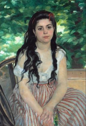 Пьер Огюст Ренуар. Летом. Цыганка. 1868