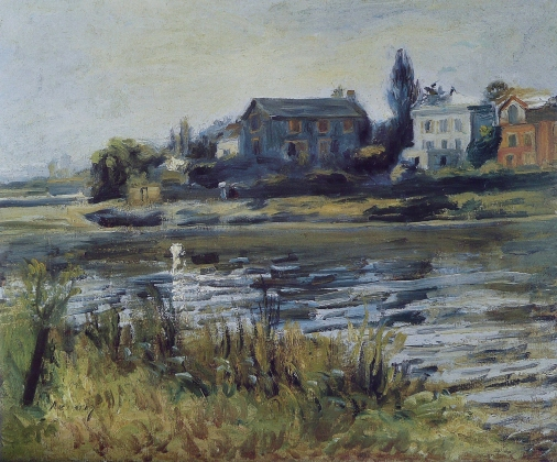 Пьер Огюст Ренуар. Сена у Шату. 1871