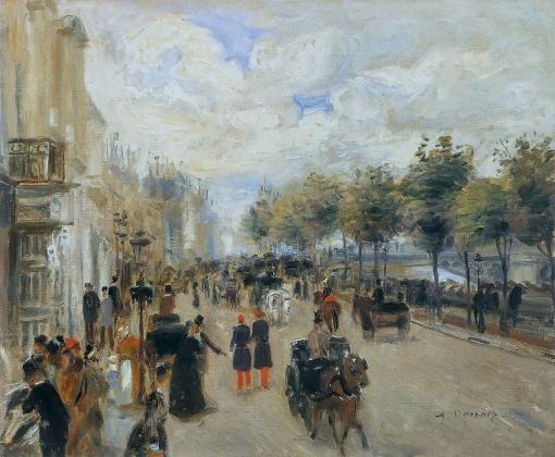 Пьер Огюст Ренуар. Париж, набережная Малаке. 1874