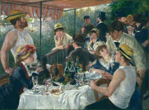 Пьер Огюст Ренуар. Завтрак катающихся на лодках. 1881