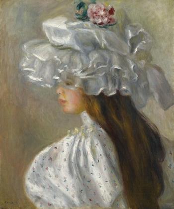 Пьер Огюст Ренуар. Девушка в белой шляпе. 1892