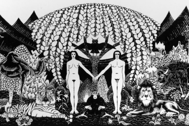 Мауриц Корнелис Эшер. Рай. 1920
