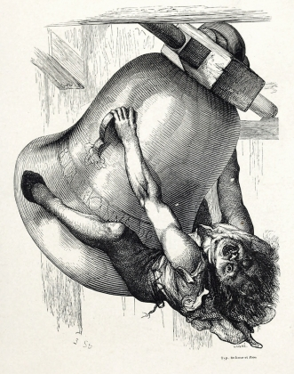 Джон Тенниэл. Иллюстрация к роману Виктора Гюго «Собор Парижской Богоматери». 1844