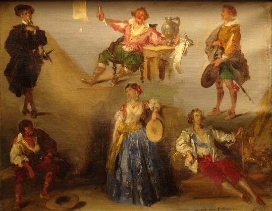 Луи Буланже. Шесть характеров из Виктора Гюго. 1853