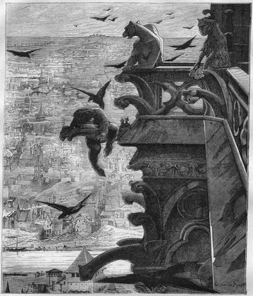 Люк-Оливье Мерсон. Иллюстрация к роману Виктора Гюго «Собор Парижской Богоматери». 1881