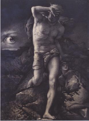 Франсуа Шиффлярт. Совесть, иллюстрация к «Легенде веков» Виктора Гюго. 1877
