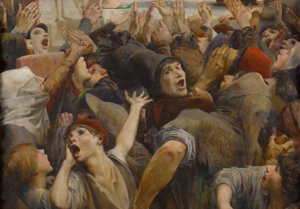 Люк-Оливье Мерсон. «Слеза за каплю воды'(«Собор Парижской Богоматери»), деталь 2. 1903