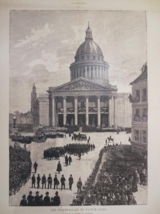 Похороны Виктора Гюго — прах Гюго везут в Пантеон,  1 июня 1885
