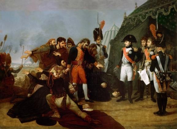 Антуан-Жан Гро. «Наполеон принимает капитуляцию Мадрида. 4 декабря 1808 года». Холст, масло. 1810 год