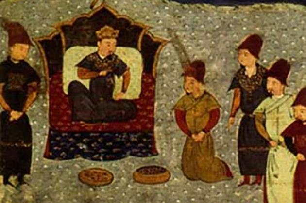 Хан Батый на троне Золотой Орды