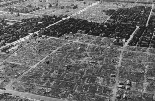 Токио после бомбардировок 10 марта 1945 года