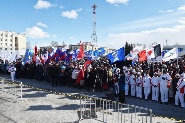 Митинг в Ижевске, посвященный двухлетней годовщине воссоединения Крыма с Россией