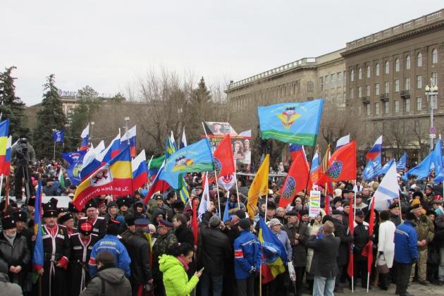 Митинг в Волгограде, посвященный двухлетней годовщине воссоединения Крыма с Россией