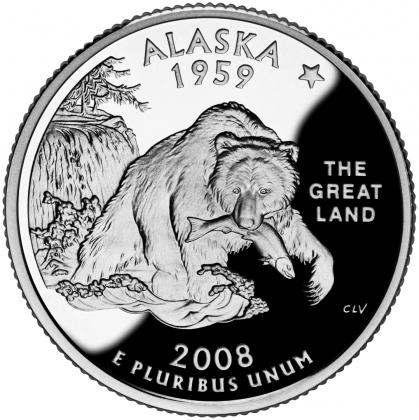 Монета США достоинством 25 центов