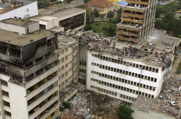 Разрушения после бомбардировок. Югославия. 1999