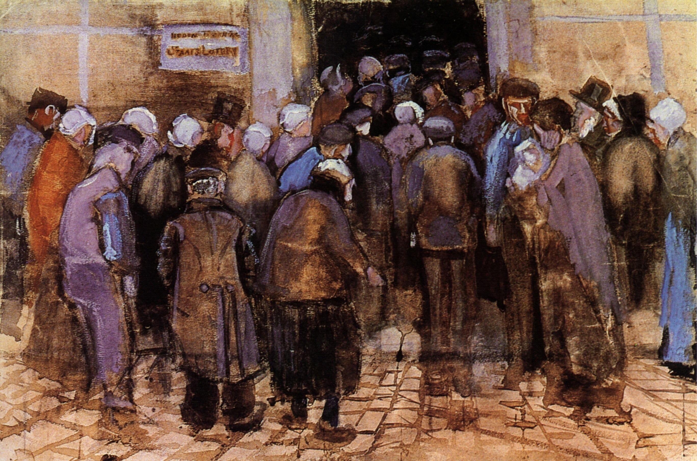 Государственная лотерея (Бедняки и деньги). 1882
