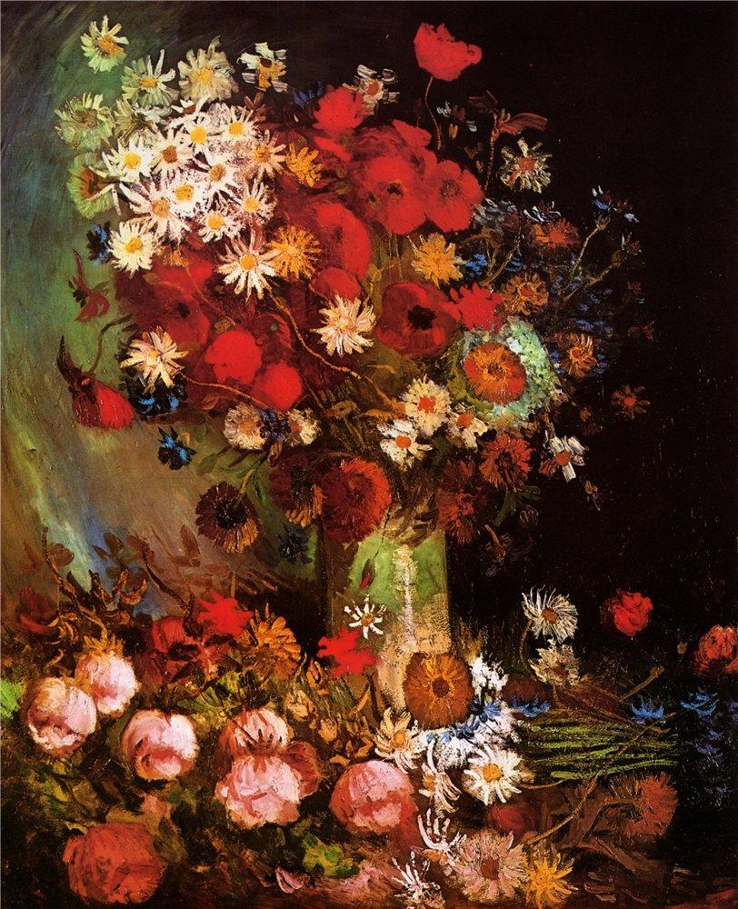 Ваза с луговыми цветами. 1886