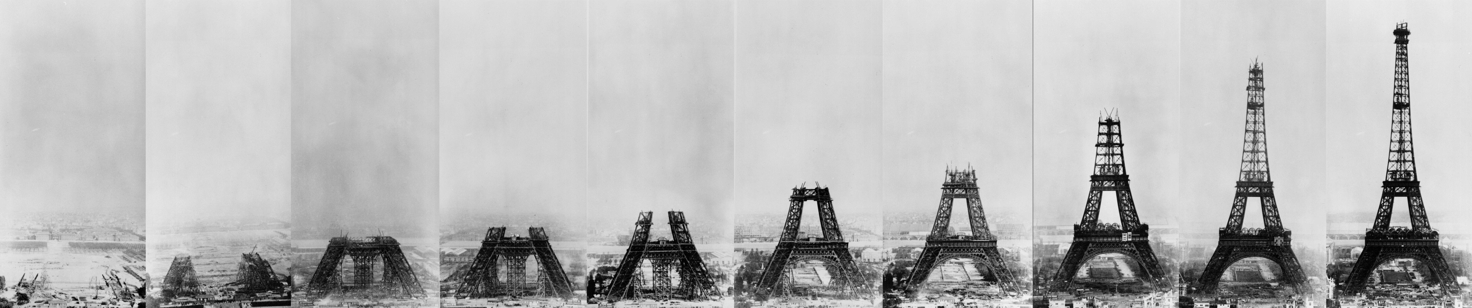 Возведение Эйфелевой башни