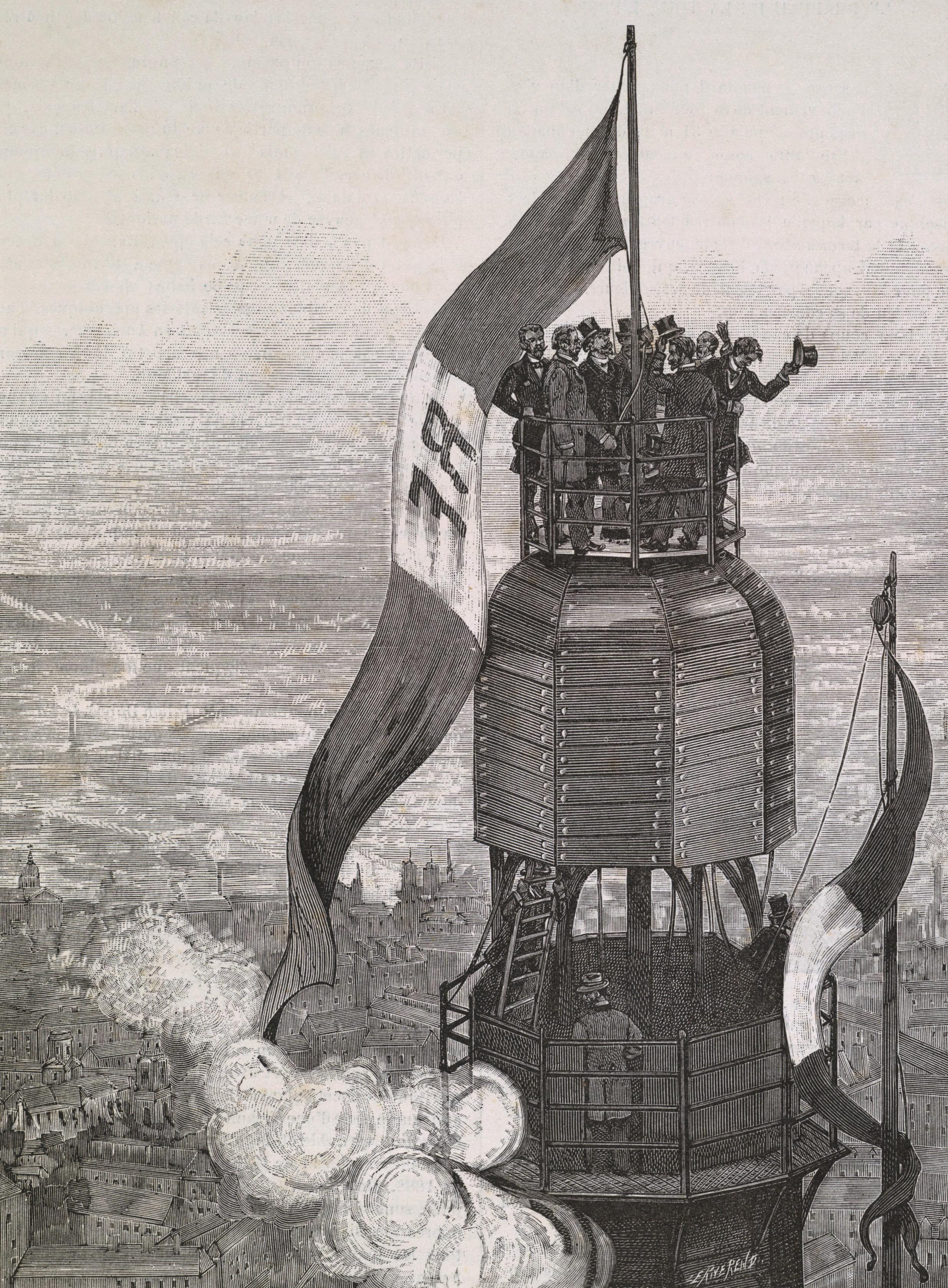 Завершение строительства Эйфелевой башни. 1889