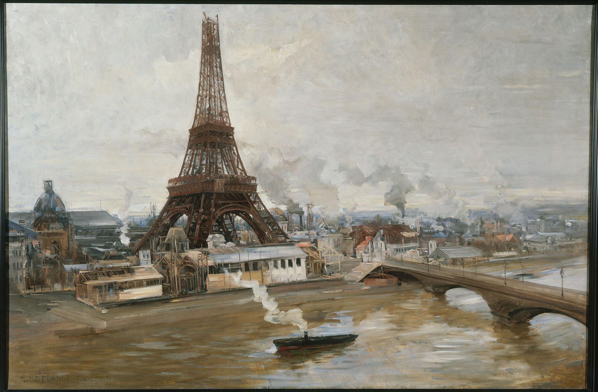 Поль-Луи Делонс. Строительство Эйфелевой башни. 1888