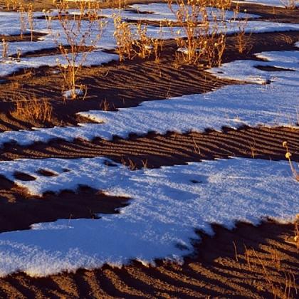 Снег на песке