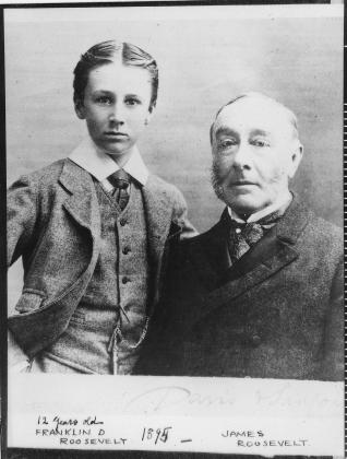 Ф.Д.Рузвельт в 12 лет с отцом, 1895