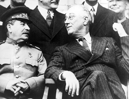 Франклин Рузвельт, 1943, Тегеранская конференция, со Сталиным