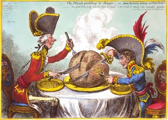 Британский и французский колониализм в XIX веке. Карикатура