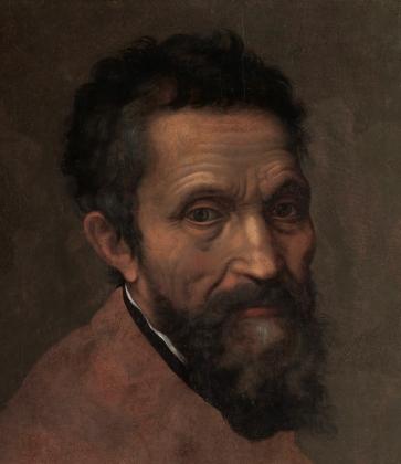 Даниэле да Вольтерра. Портрет Микеланджело. Ок.1544