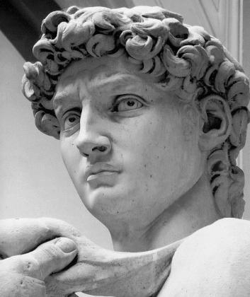 Микеланджело. Давид (фрагмент)