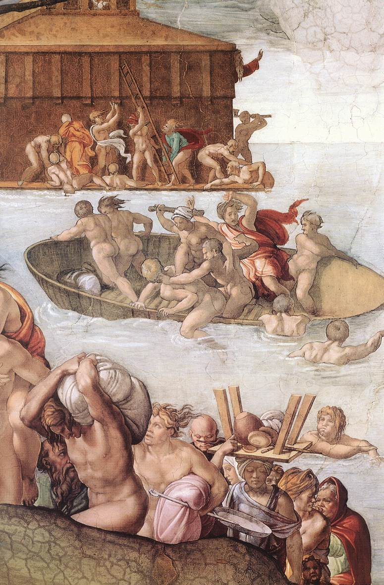 Микеланджело. Сикстинская капелла. Библейские сюжеты. Потоп (фрагмент)