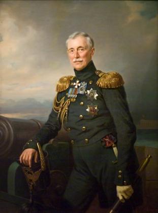 Франц Крюгер.Портрет князя А. С. Меншикова в мундире Гвардейского Экипажа. 1851