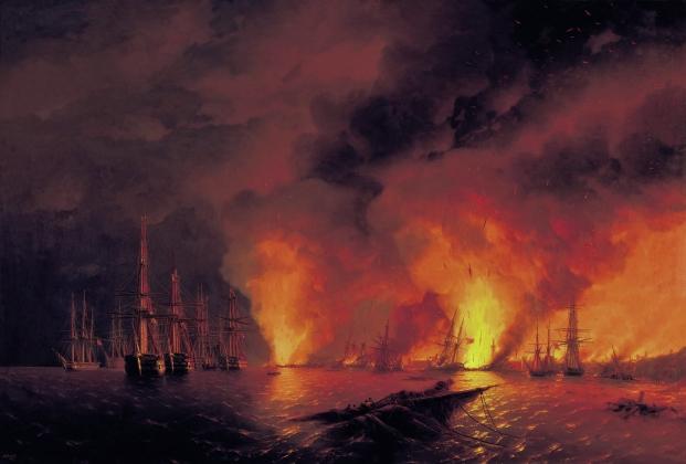 Иван Айвазовский. Синопский бой 18 ноября 1853 года. 1853