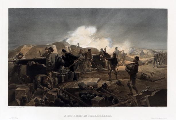 Уильям Симпсон. Жаркая ночь на батарее. 1855