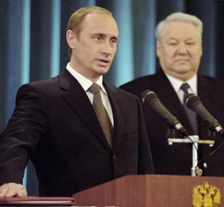 Владимир Путин приносит присягу как Президент Россйиской Федерации. 7 мая 2000