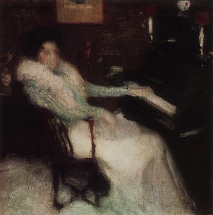 Игорь Грабарь. Дама у пианино. 1899