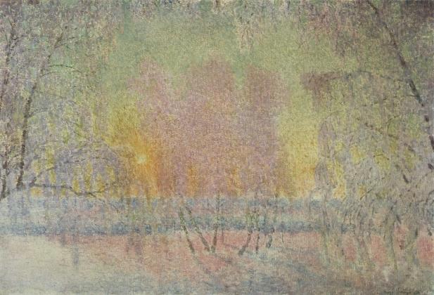 Игорь Грабарь. Сказка инея и восходящего солнца. 1908